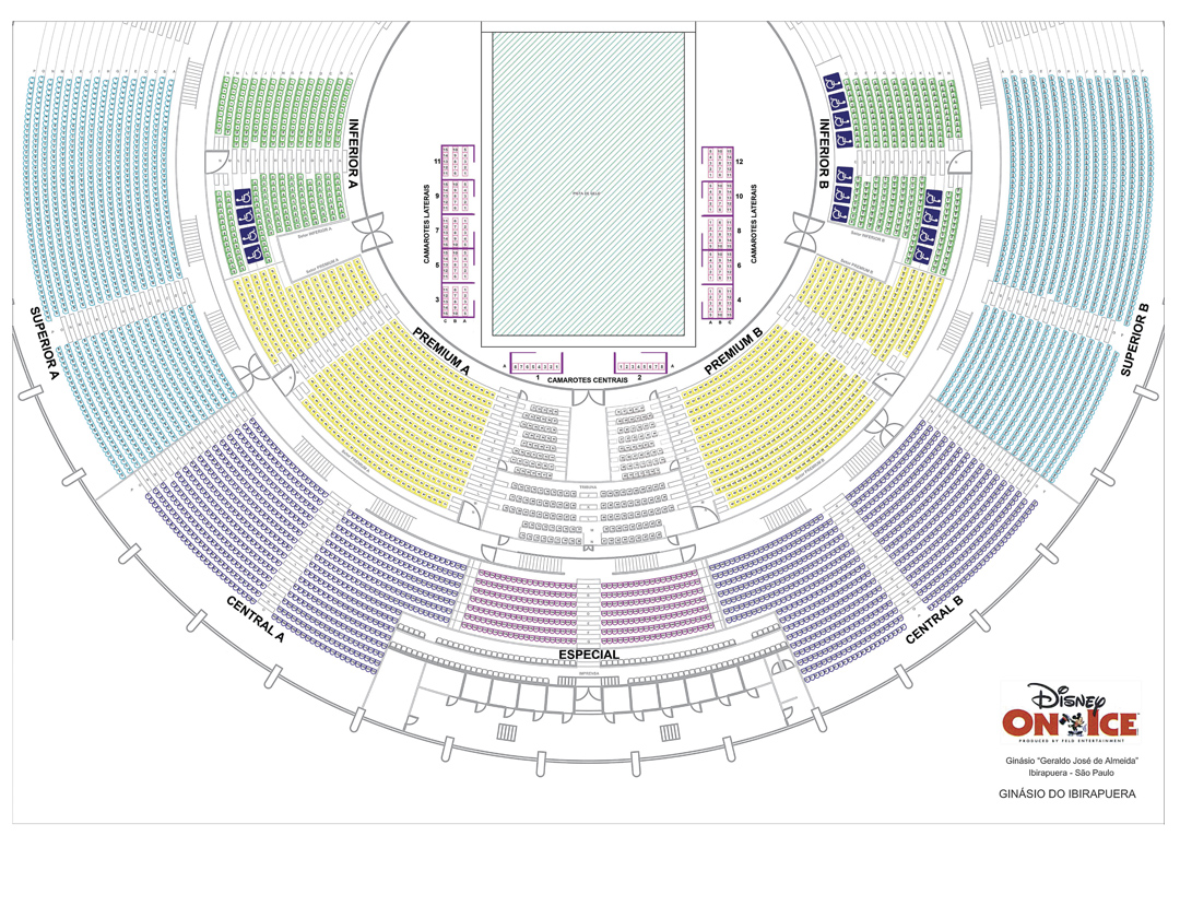 "Mapa de Assentos ""Disney On Ice"""